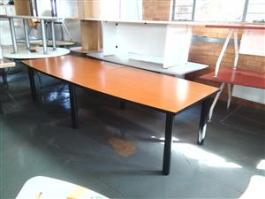 10 Seater boardroom table cherry wood