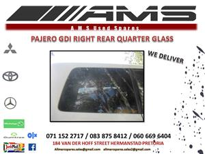 PAJERO GDI RIGHT REAR QUARTER GLASS