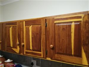 Solid wood kitchen cupboards