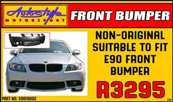 Non-Original Suitable to fit BMW E90 Plastic Front Bumper