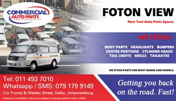 Foton View Parts and Spares For Sale.