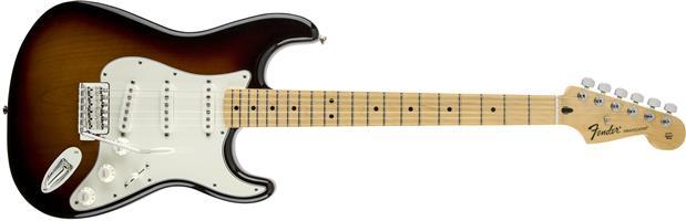 Fender Standard Strat electric guitar,Mex,SSS,Brown Sunburst,Maple Neck,0144602532