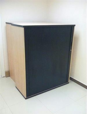Used office wooden cupboard