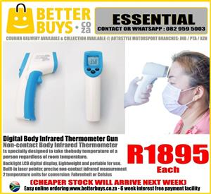 Digital Body Infrared Thermometer Gun contactless CHEAPER STOCK    THERMOMETRE ARIVING NEXT WEEK