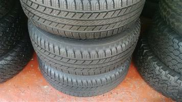 255/55R19 GOODYEAR & GENERAL GRABBER A/T TYRES FOR SALE