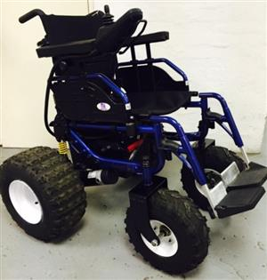 MR WHEELCHAIR HEAVY DUTY FOLDABLE OUTDOOR ESCAPE SX POWER WHEELCHAIR----