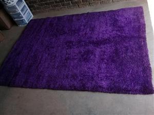 Shaggy purple carpet for sale