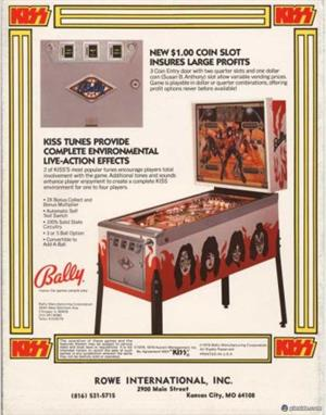 Kiss Pinball Machine by Bally