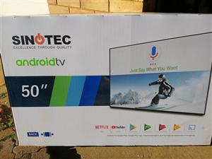 """Sinotec 50"""" android tv"""