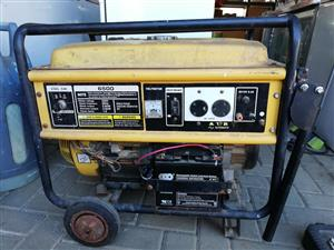 Generator starts manually. Battery needs to be replaced to use key start
