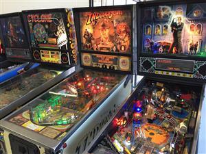 Arcades Pinball Machine, Pool Table, Jukebox, Air Hockey, Foosball Table, many to choose from