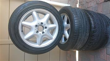 Mercedes Benz 16 Inch Mag-Wheels For Sale-Full Set-Pcd-5x112