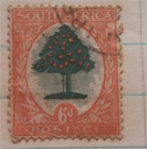 south African 6d stamp