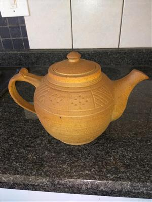 Mustard colored teapot for sale