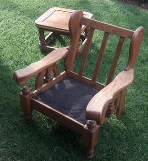 Oak lounge suite for sale
