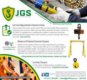 Overhead Cranes, Lifting Equipment & Tackle