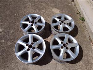 15 inch Toyota run x rims for sale