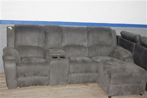 L-shape couch recliner S036624B #Rosettenvillepawnshop