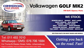 VW Golf 2 Parts and spares for sale