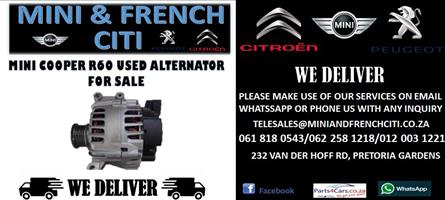 MINI COOPER R60 USED ALTERNATOR FOR SALE