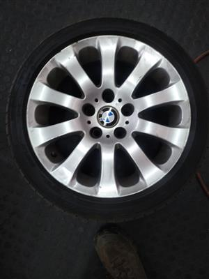 "17"" BMW E90 mags plus run flat tyres in excellent condition."