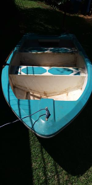 Small boat for sale with trolling motor and petrol motor
