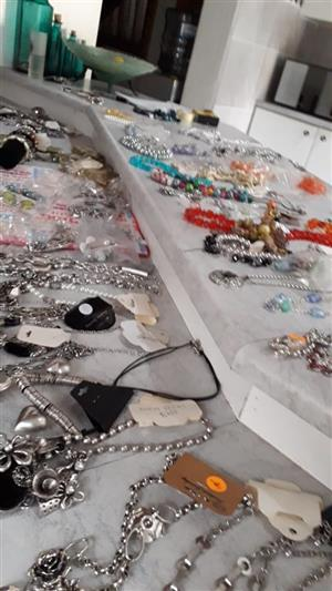 Good condition Hand made and factory made Custom Jewelry. Prices range from R20 - R 150                  per item.