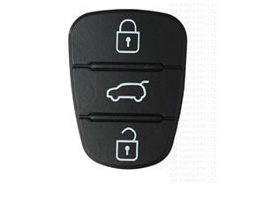 Hyundai I10 I20 I30 3 Button Remote Key Fob Case Shell Rubber Pad For Flip Key