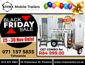 VIP Mobile Toilets/Mobile Kitchens/Mobile Freezers/Coolers(For sale)