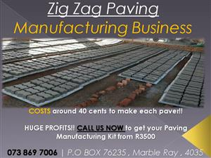 ★ Manufacture Zig Zag Paving ★ HUGE PROFITS TO BE MADE - Costs around 40c to make