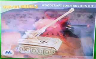 Gun on wheels construction kit