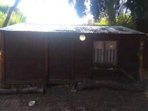 Garden cabin with separate bathroom and kitchen