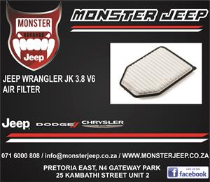 Jeep Wrangler JK 3.8 V6 Air Filters / Service Parts