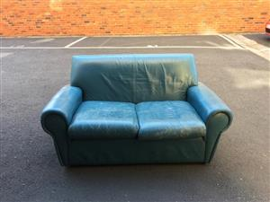 Custom made Italian leather 2 seater couch
