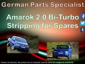 Amarok 2.0 Bi-Turbo 2015 Stripping for Spares