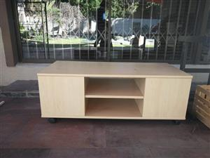 Light wooden tv stand for sale
