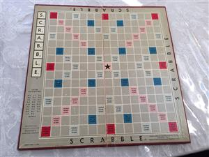 Vintage Scrabble set with real Wooden tiles and trays - Complete