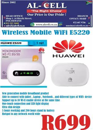 Huawei Wireless E5220 Mobile Wi-Fi Pocket Router