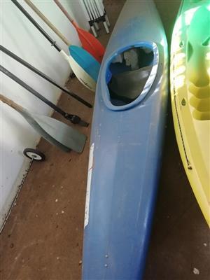 White water rafting canoe