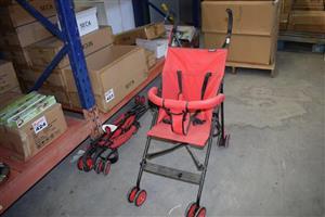 Red stroller for sale