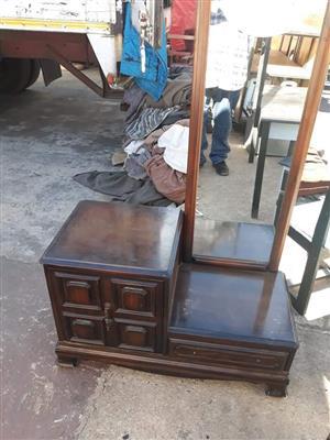 Vintage wooden dresser with mirror