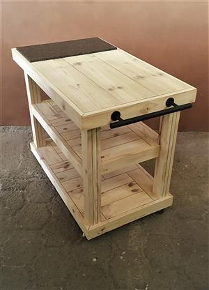 Butchers Block Chunky Farmhouse series 1100 mobile Raw