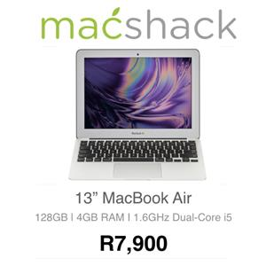Apple MacBook Air 11-inch 1.6GHz Dual-Core i5 (128GB, Silver) - Pre Owned for sale  Johannesburg - Sandton