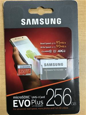 256gb Memory cards for sale