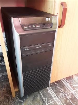 Dual core tower only windows 7 Microsoft office 2 gigs ram 160 gig hdd DVD
