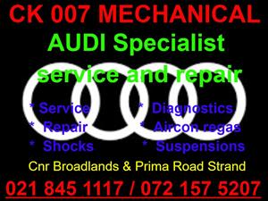 Audi service and repair Specialist available.
