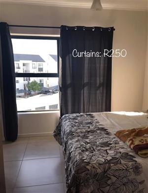 Black colored curtains for sale