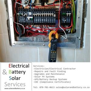 BENONI Electrical Services - New Install, Repairs,Faults Also Solar and Battery Systems