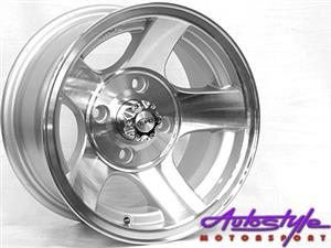 13 inch Evo BK222 4-114 Alloy Wheels