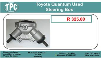 Toyota Quantum Used Streering Box For Sale.